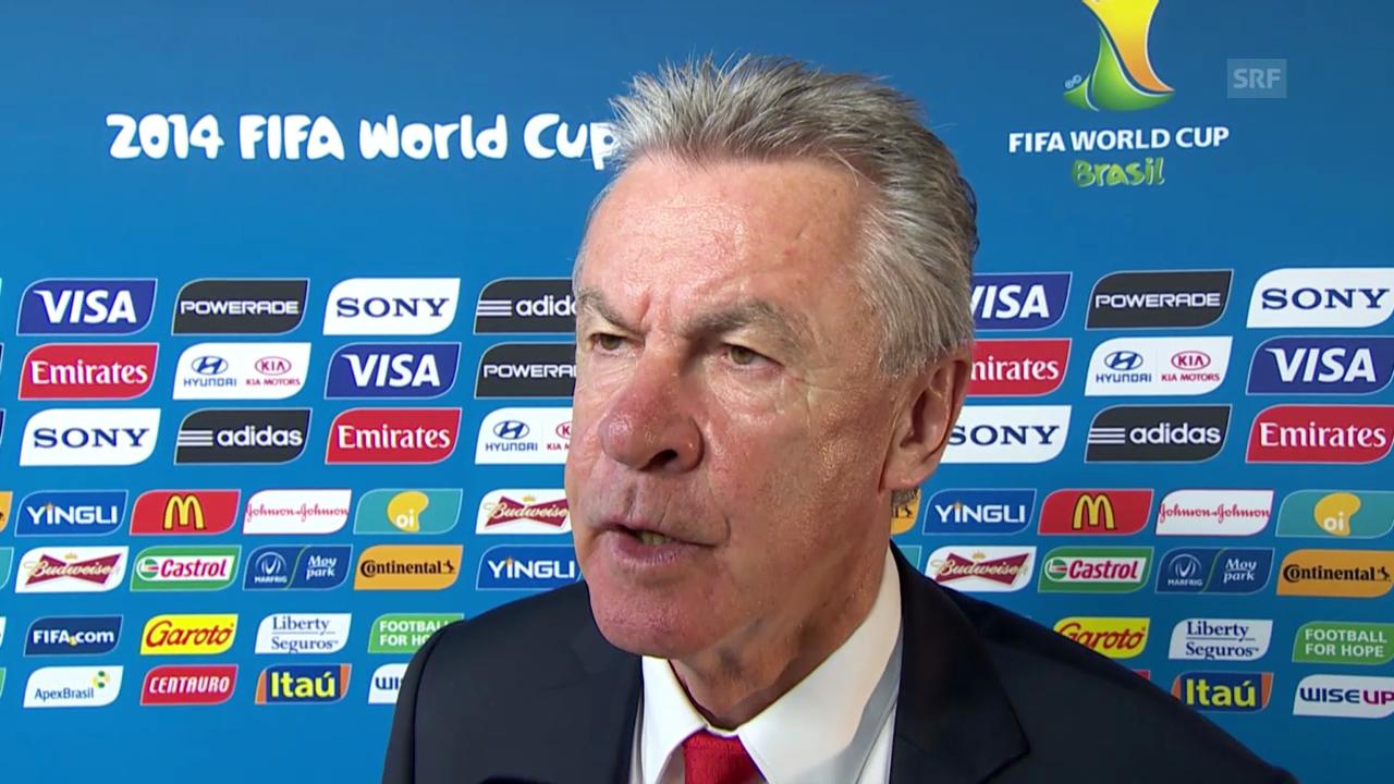Interview mit Ottmar Hitzfeld vor dem Frankreich-Spiel
