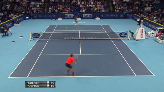 Video «Highlights Federer - Pospisil («sportlive»)» abspielen