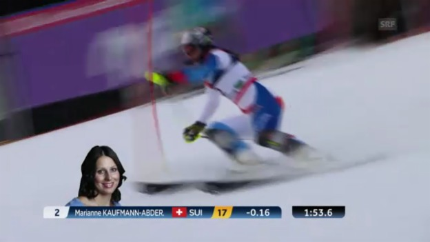 Video «Ski-WM: Kombi-Slalom von Kaufmann-Abderhalden» abspielen