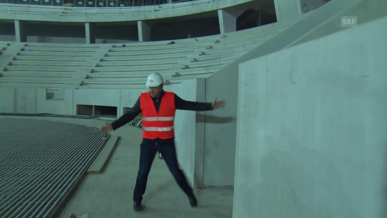 Eishockey: Kevin Schläpfer besichtigt die Baustelle des neuen EHC Biel- Stadions