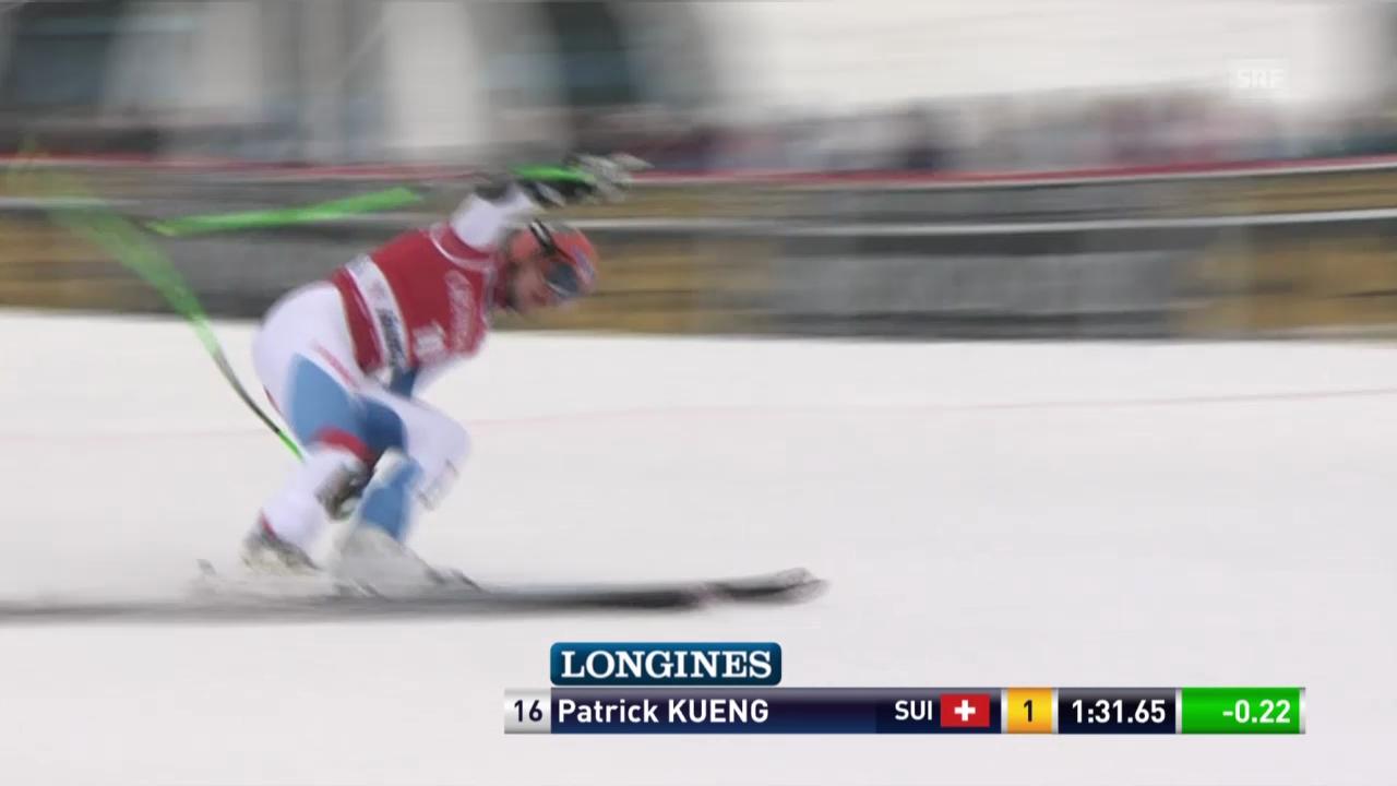 Ski: Super-G Kvitfjell, Fahrt von Patrick Küng («sportlive», 2.3.14)