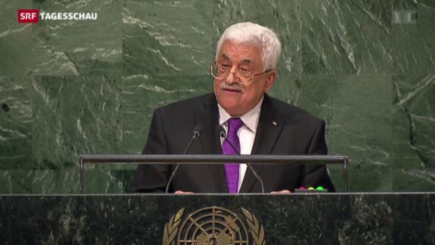Video «Palästinenserpräsident Abbas kündigt Osloer Friedensprozess auf» abspielen