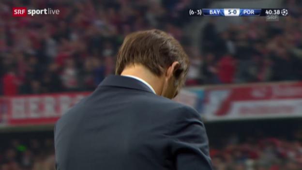 Video «Fussball: Champions League, Viertelfinal Rückspiel, Bayern - Porto, 5:0 Lewandowski» abspielen