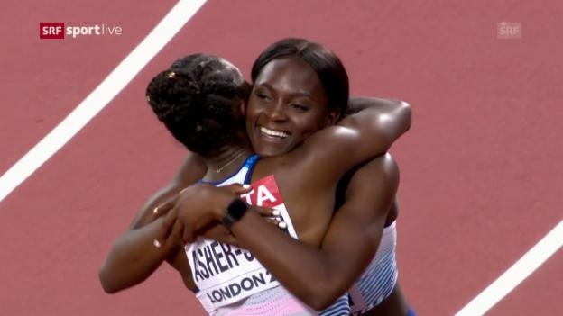 Video «Das 4x100-m-Rennen der Frauen» abspielen