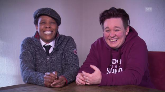 Video «Marla Glen und Claudia Schmid haben's lustig.» abspielen