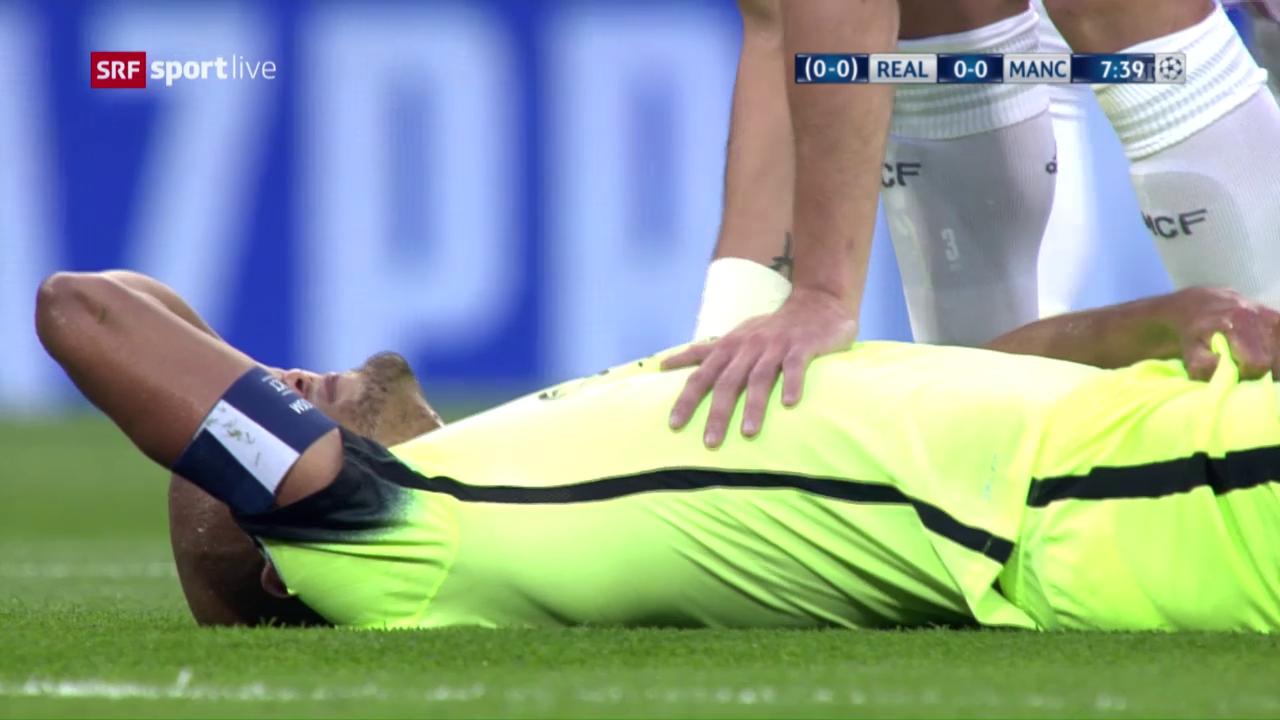 So verletzte sich Vincent Kompany im CL-Rückspiel in Madrid