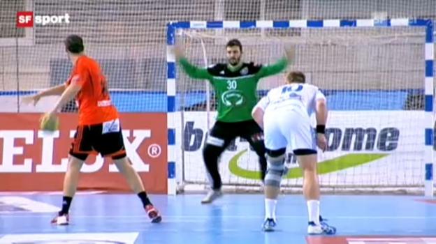 Video «Handball-CL: Minsk - Kadetten» abspielen