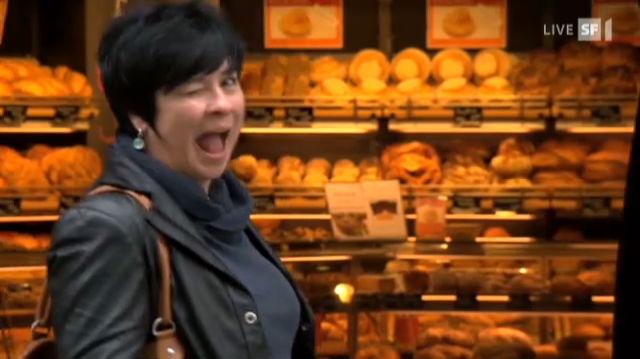 Regula Esposito als dreiste Bäckerin