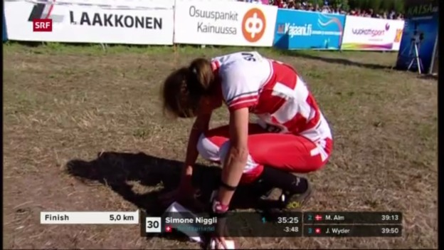 Video «OL: Niggli über Mitteldistanz mit 3. WM-Gold («sportaktuell»)» abspielen