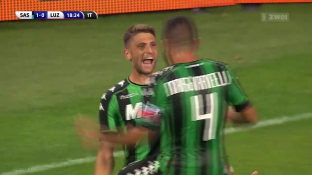 Video «Luzern muss sich Sassuolo beugen» abspielen