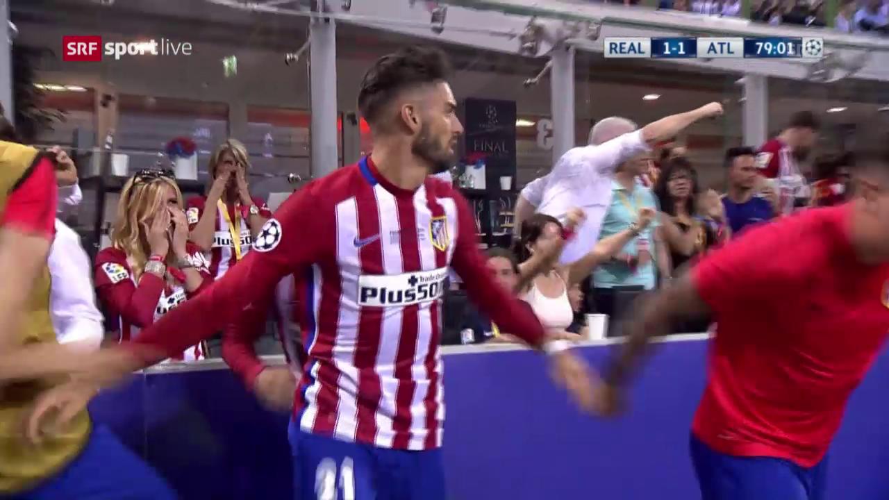 Carrasco erlöst Atletico mit dem Ausgleich