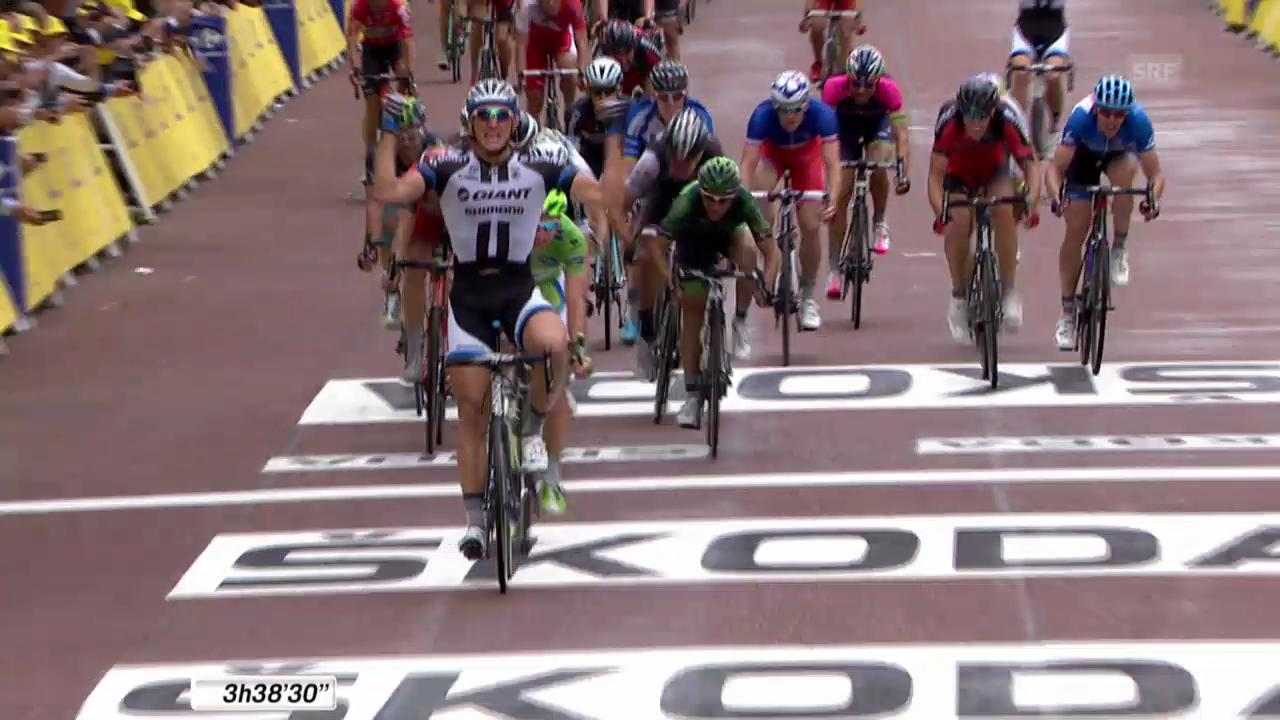 Rad: Tour de France, 3. Etappe, Schlussphase