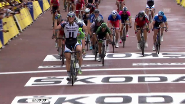 Video «Rad: Tour de France, 3. Etappe, Schlussphase» abspielen