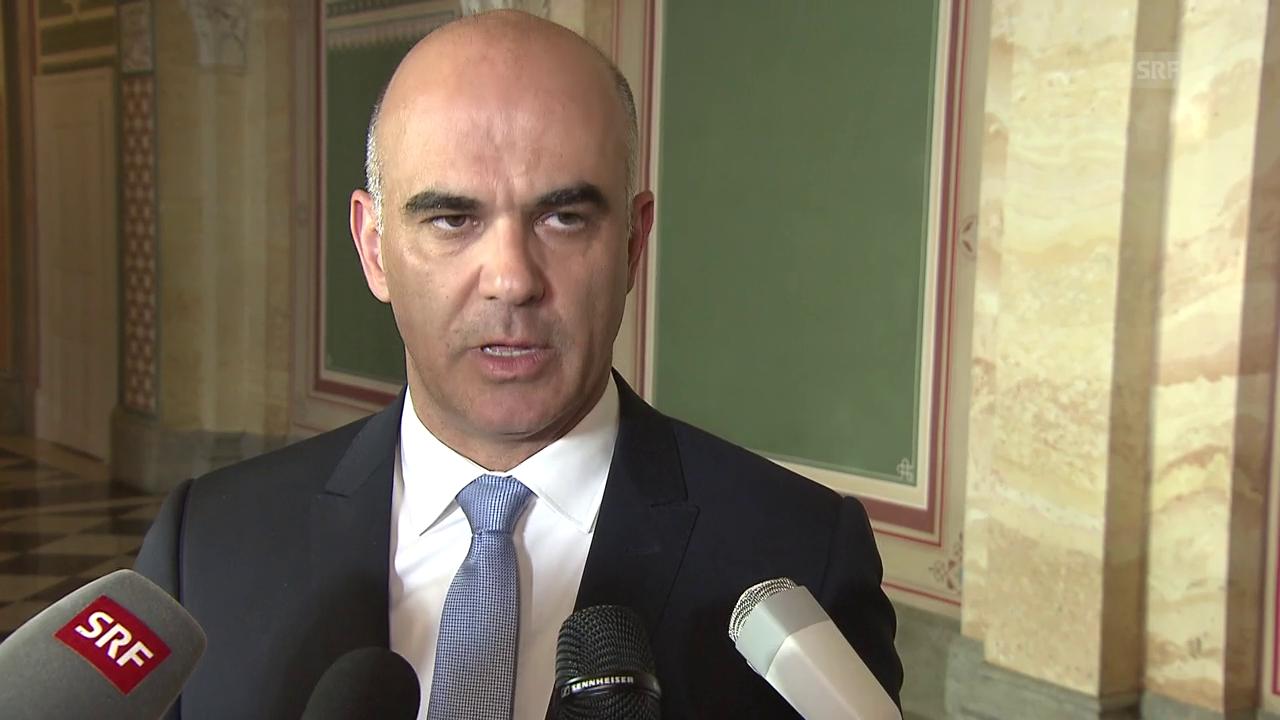 Alain Berset: «Schweiz verfolgt Situation beunruhigt»