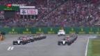 Video «Lewis Hamilton baut Führung in Hockenheim aus» abspielen