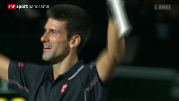 Video «Tennis: Final des ATP-1000-Turniers in Paris, Djokovic - Raonic» abspielen
