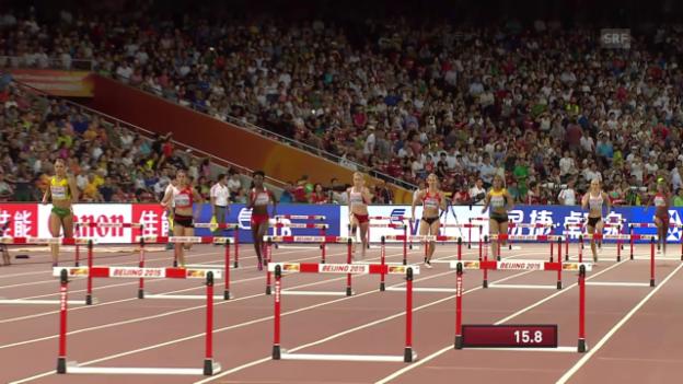 Video «Halbfinals über die 400 Meter Hürden» abspielen