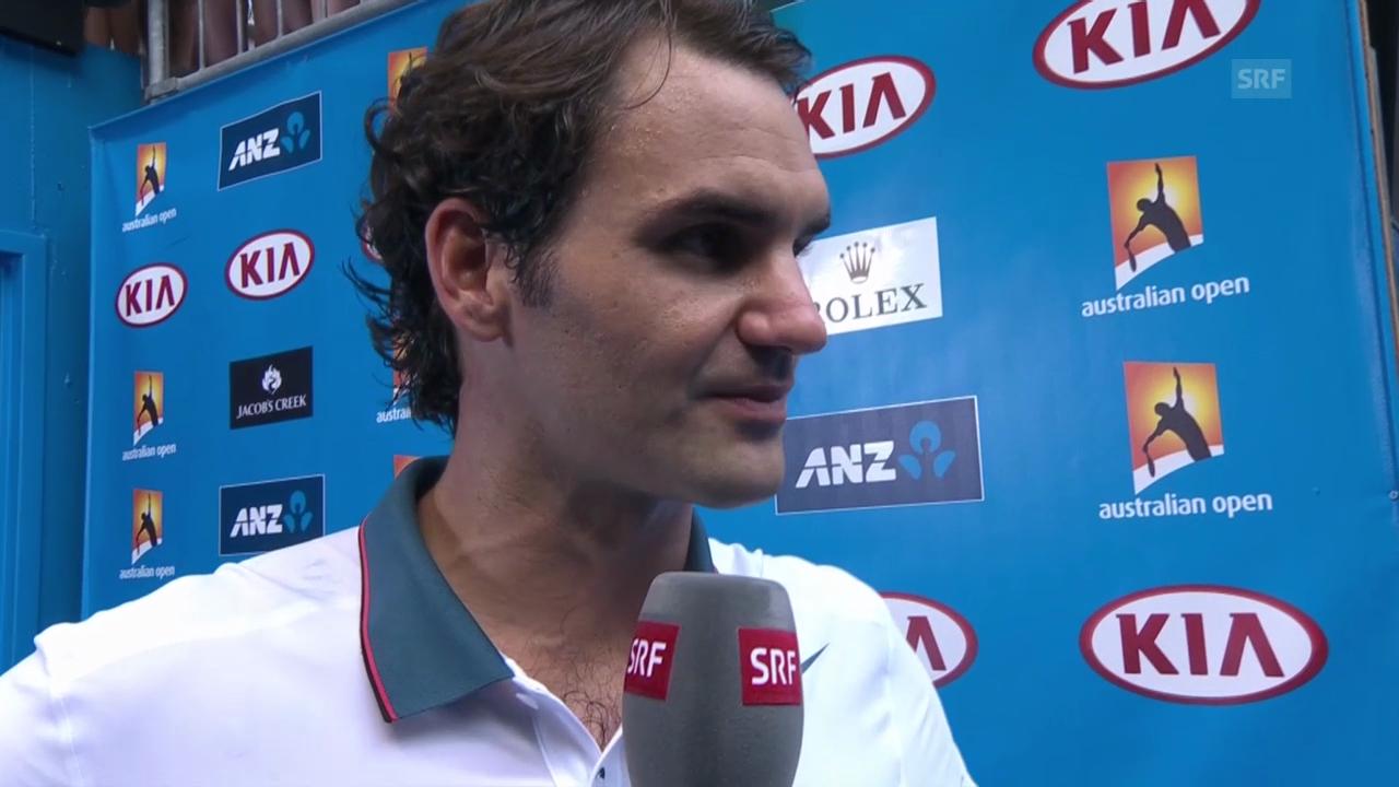 Tennis: Australian Open, Interview mit Federer («sportlive», 16.1.2014)