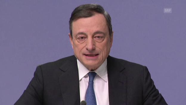 Video «Draghi schwemmt Milliarden in die Märkte» abspielen
