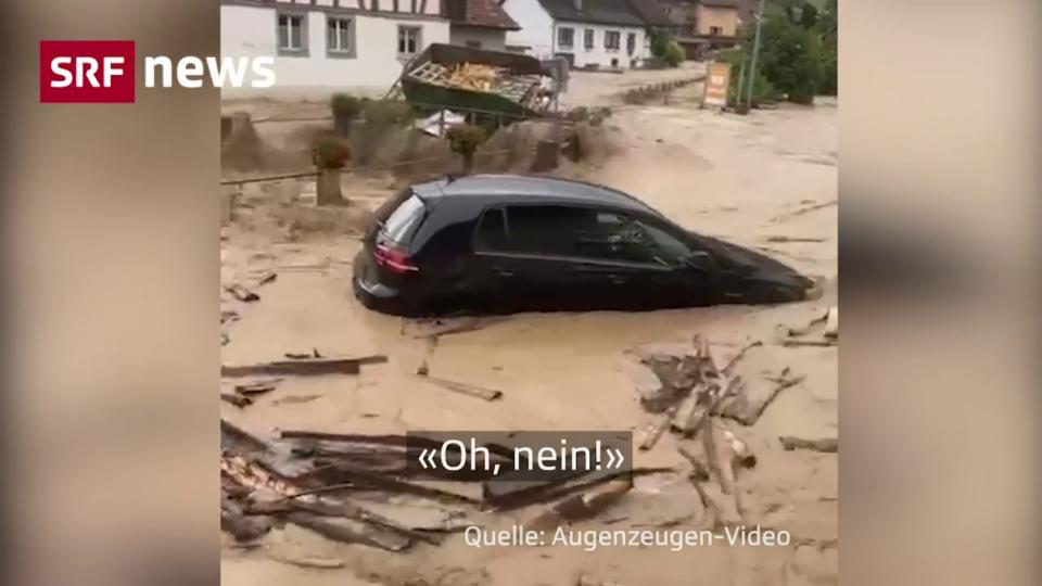 Hochwasser-Schock in Schleitheim (SH)