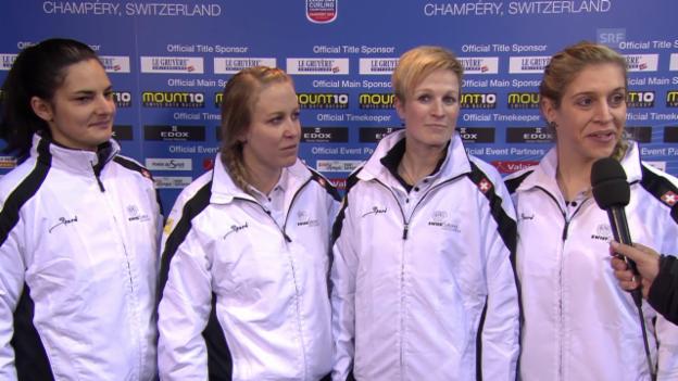 Video «Curling: EM in Champéry, Die Schweizerinnen im Interview» abspielen