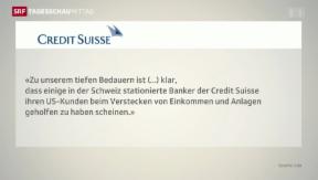 Video «Credit Suisse gesteht Fehler ein» abspielen