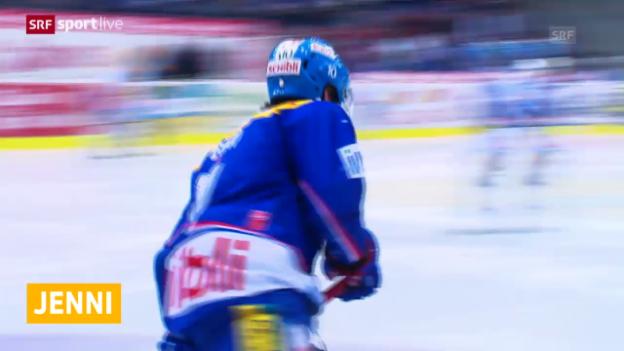 Video «Eishockey: Marcel Jenni hängt die Schlittschuhe an den Nagel» abspielen