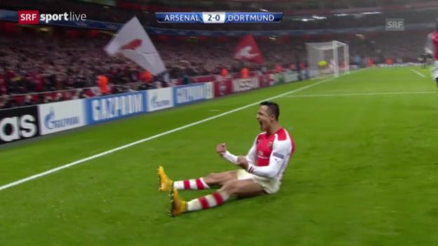 Video «Zusammenfassung Arsenal-Dortmund» abspielen