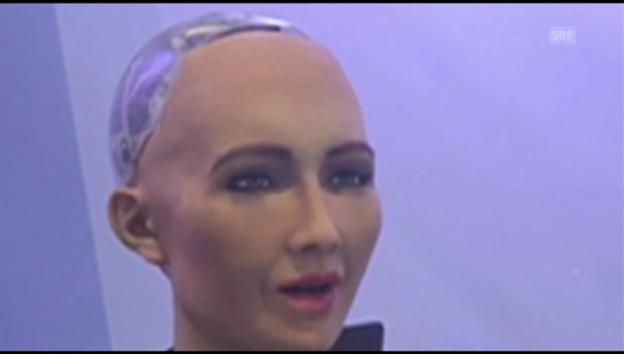 Video «Wenn eine Roboterin mit Menschen in Interaktion tritt» abspielen