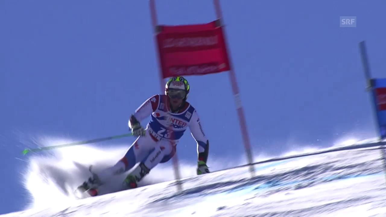Ski: Riesenslalom der Männer in Val d'Isère, 2. lauf von Justin Murisier