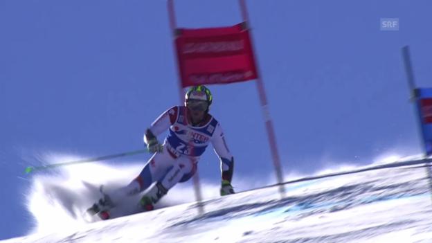 Video «Ski: Riesenslalom der Männer in Val d'Isère, 2. lauf von Justin Murisier» abspielen