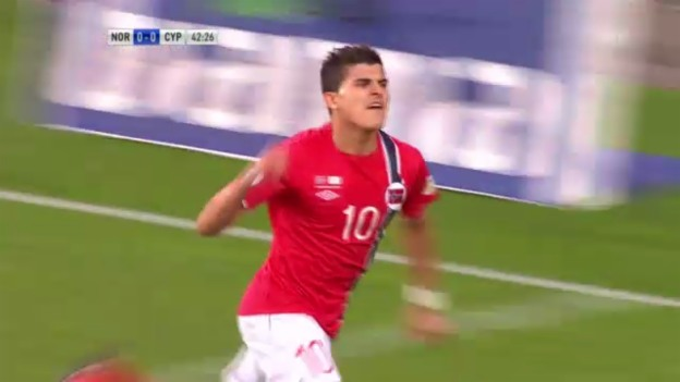 Video «Fussball: Norwegen - Zypern: Die Tore» abspielen