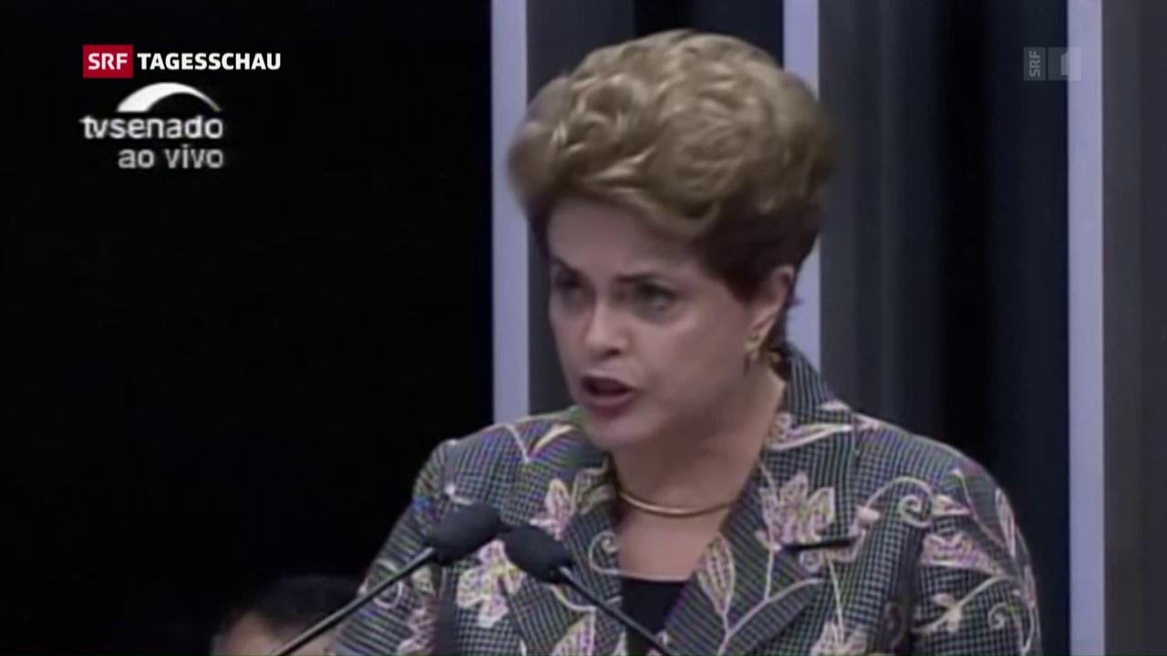 Dilma Rousseff als Präsidentin abgesetzt