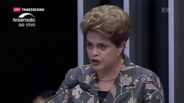 Video «Dilma Rousseff als Präsidentin abgesetzt» abspielen