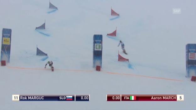 Video «Snowboard: WM Kreischberg, Parallel-Slalom Final Männer» abspielen