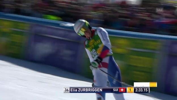 Video «Ski Alpin: Riesenslalom Kranjska Gora, 2. Lauf Elia Zurbriggen («sportlive», 8.3.2014)» abspielen