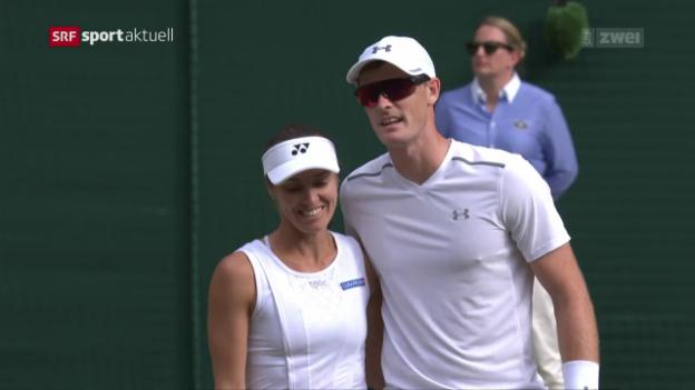 Video «Hingis/Murray machen im Mixed kurzen Prozess» abspielen