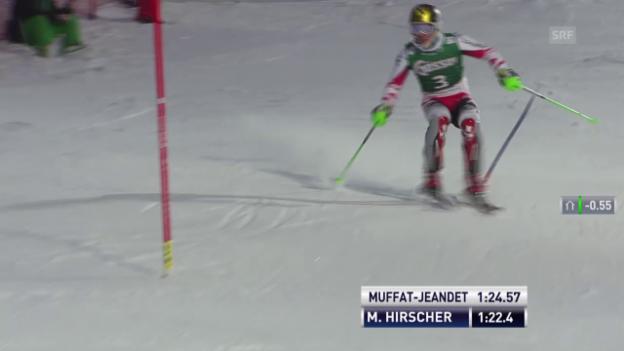 Video «Ski alpin: Super-Kombi in Kitzbühel, Slalom-Lauf von Marcel Hirscher» abspielen
