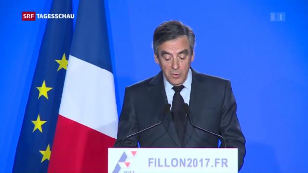 Video «François Fillon gibt nicht auf» abspielen