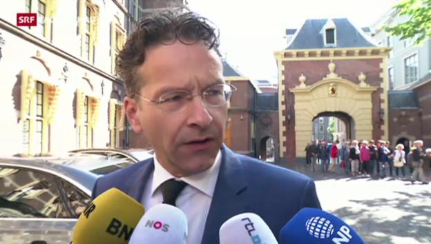 Video «Dijsselbloem und Hollande sind vorsichtig optimistisch» abspielen