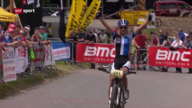 Video «Jolanda Neff Dritte beim Swiss Cup in Gränichen» abspielen