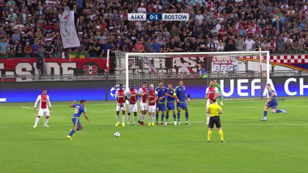 Video «Ajax Amsterdam nur mit Remis gegen Rostow» abspielen