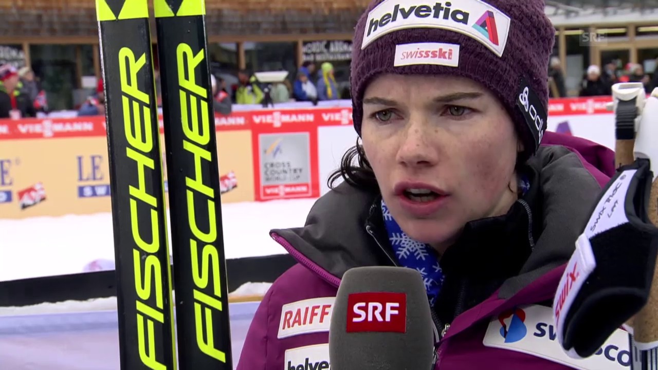 Langläuferin Nathalie von Siebenthal ist zufrieden mit ihrer Leistung.
