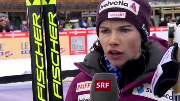 Video «Langläuferin Nathalie von Siebenthal ist zufrieden mit ihrer Leistung.» abspielen
