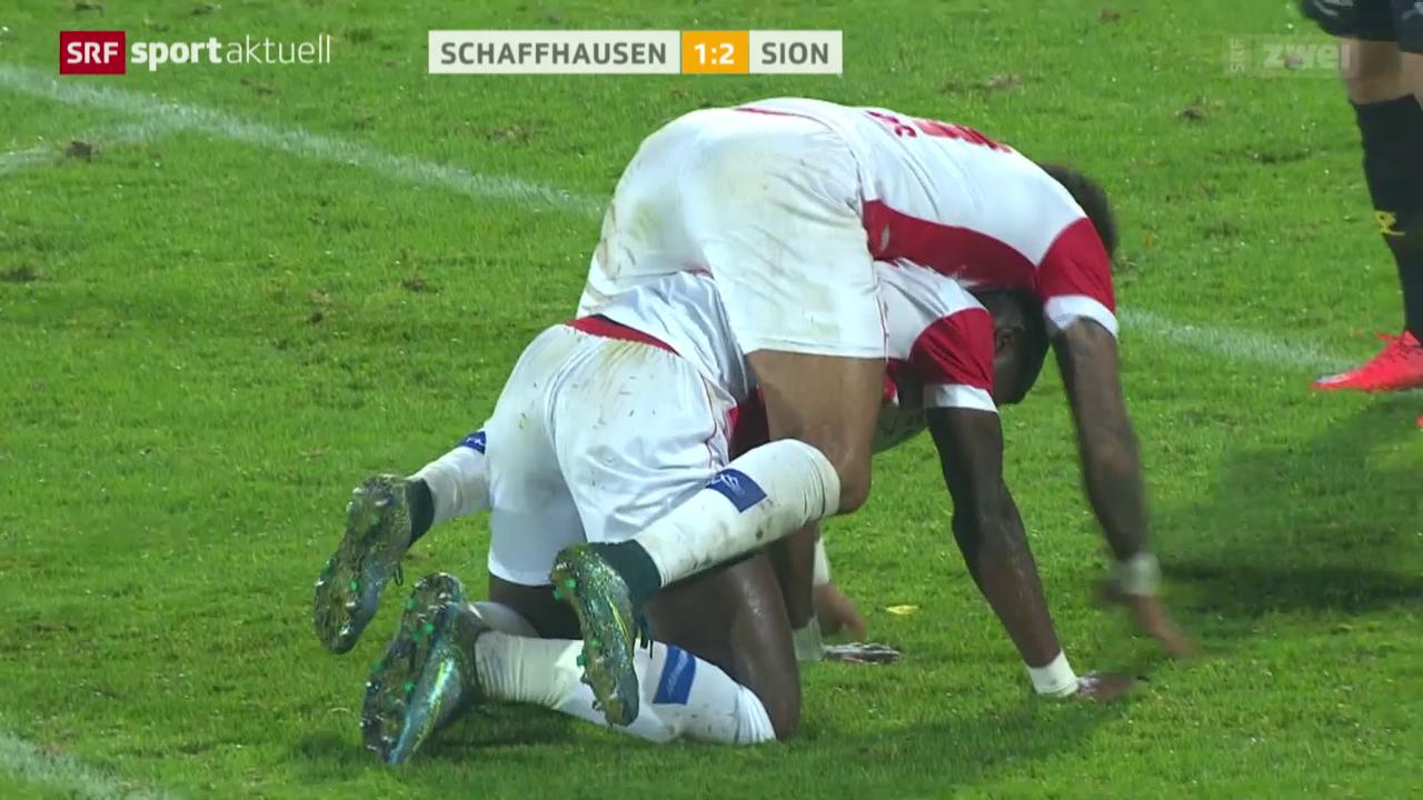 Fussball: Cup, Schaffhausen - Sion