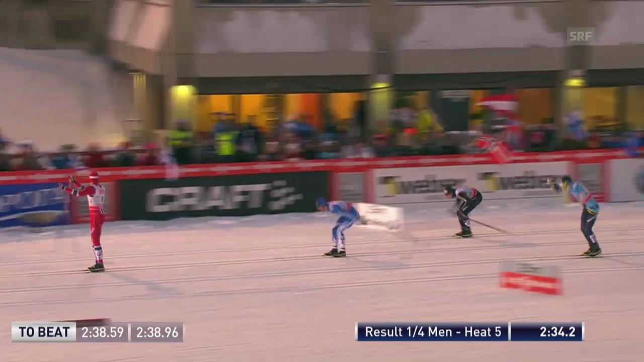 Der Viertelfinal-Heat von Gianluca Cologna