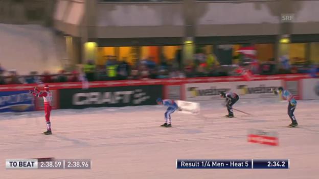 Video «Der Viertelfinal-Heat von Gianluca Cologna» abspielen