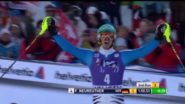 Video «Ski alpin: 2. Slalomlauf Neureuther in Wengen («sportlive»)» abspielen
