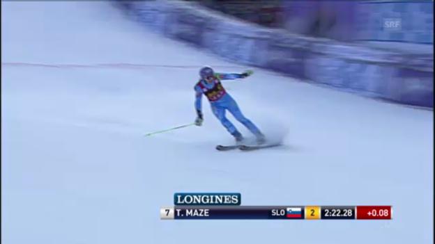 Video «Ski: Der 2. Lauf von Tina Maze in Maribor» abspielen