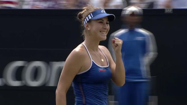 Video «Tennis: WTA-Turnier Rosmalen, letzte 2 Punkte Bencic-Jankovic» abspielen